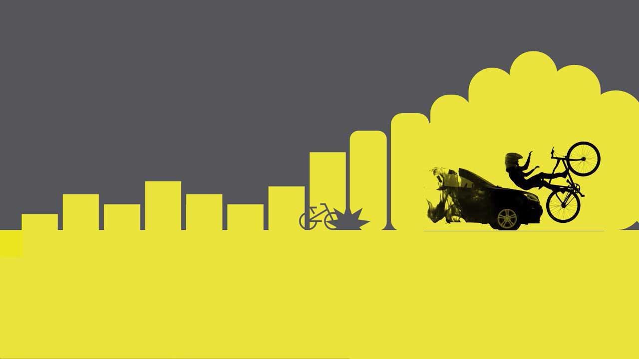 Fahrradairbag für Radfahrer schützt bei Unfällen