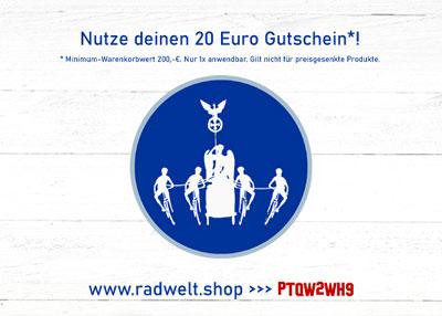 Radwelt Shop Gutschein - Willkommen